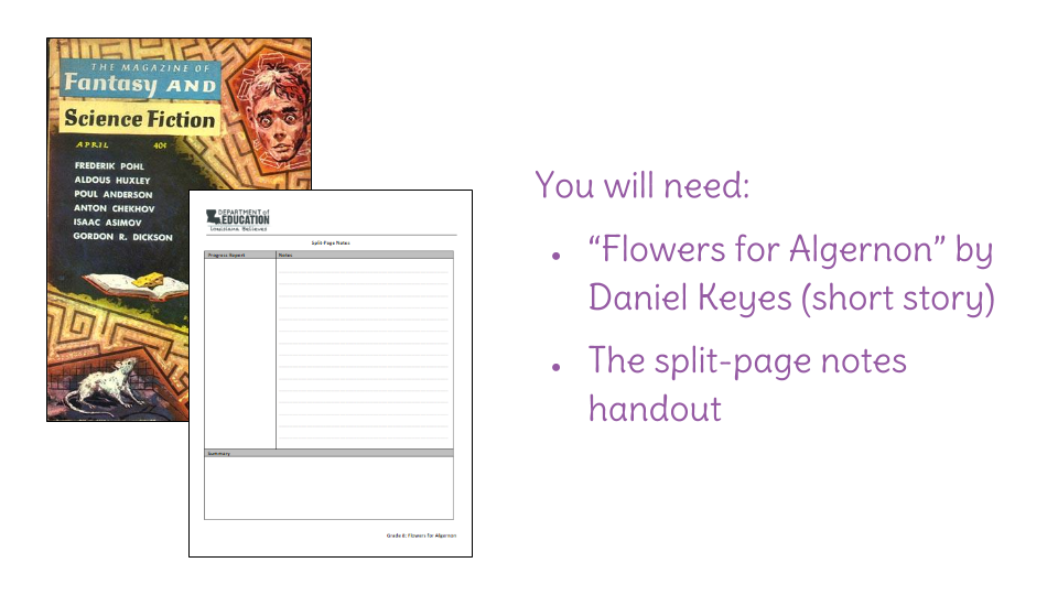 a literary analysis of flowers for algernon by daniel keyes Flowers for algernon study guide contains a biography of daniel keyes, literature essays, quiz questions, major themes, characters, and a full summary and analysis.