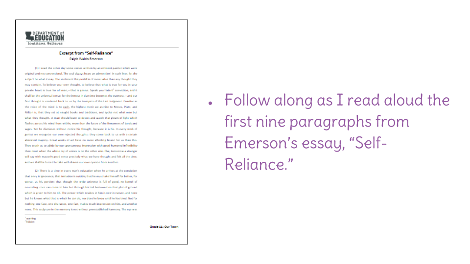 an analysis of self reliance by emmerson 102 journal of philosophy of life vol2, no1 (march 2012):102-110 [essay] emerson's argument for self-reliance as a significant factor in a.
