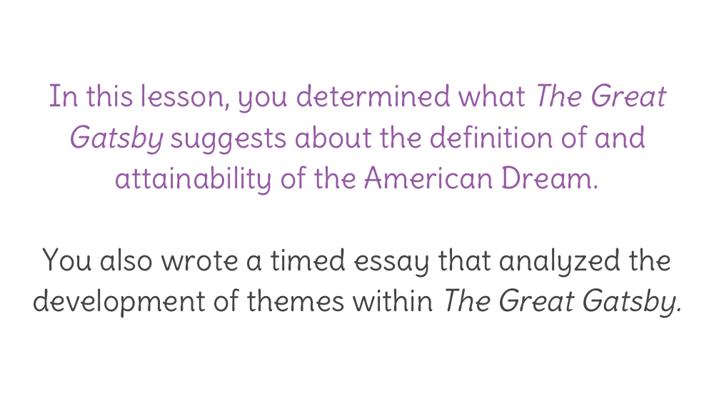 american dream theme essay Full glossary for death of a salesman essay questions instead willy strives for his version of the american dream — success and the second major theme of.